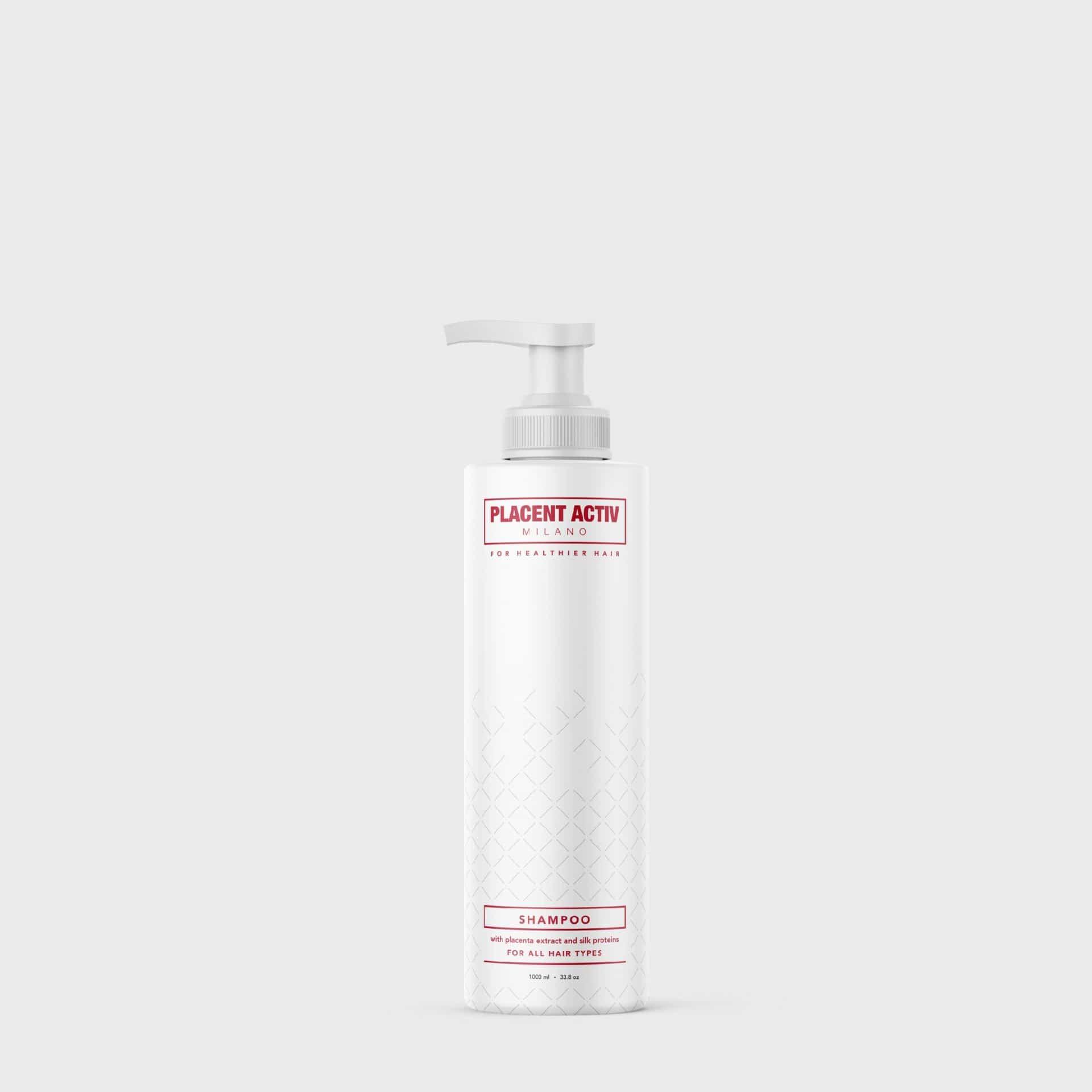Platsenta-ekstrakti sisaldav Placent activ šampoon